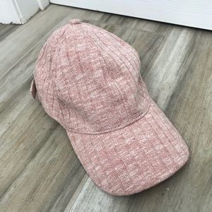Anthropologie Pink Knit Baseball Hat